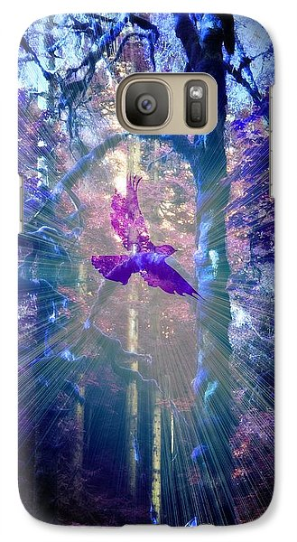 Galaxy Case featuring the photograph Mystical Wings by Amanda Eberly-Kudamik