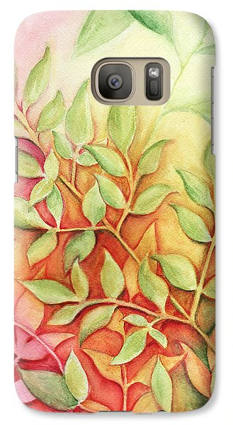 Galaxy Case featuring the painting Nandina Leaves by Carla Parris
