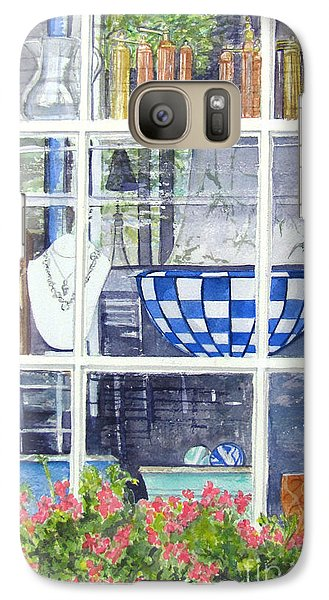 Galaxy Case featuring the painting Nantucket Shop-lecherche Midi by Carol Flagg