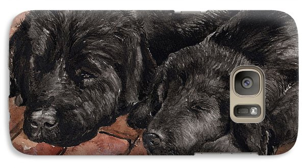 Galaxy Case featuring the painting Nap Time by Nancy Patterson