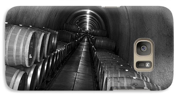 Galaxy Case featuring the photograph Napa Wine Barrels In Cellar by Shane Kelly