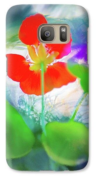 Galaxy Case featuring the photograph Nasturtium by Richard Piper