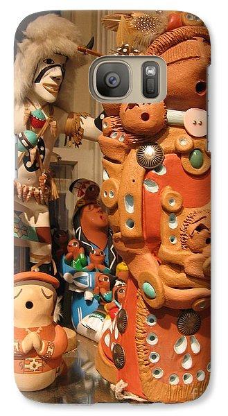 Galaxy Case featuring the photograph Native  American Folk Art by Dora Sofia Caputo Photographic Art and Design