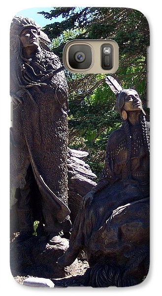 Galaxy Case featuring the photograph Native American Statue by Chalet Roome-Rigdon