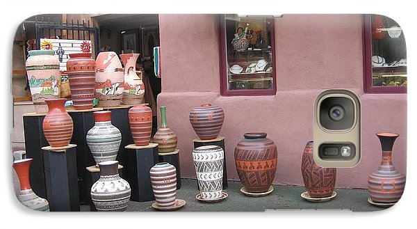 Galaxy Case featuring the photograph Native Jars And Vases Market by Dora Sofia Caputo Photographic Art and Design