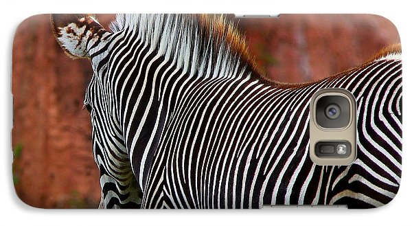 Galaxy Case featuring the photograph Nature's Barcode by Davandra Cribbie