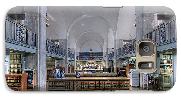 Galaxy Case featuring the photograph Nebraska State Capitol Library by Art Whitton