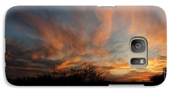 Galaxy Case featuring the photograph Nebraska Sunset by Art Whitton