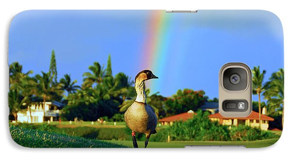 Galaxy Case featuring the photograph Nene At The End Of The Rainbow by Lynn Bauer