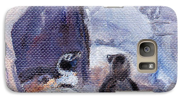 Galaxy Case featuring the painting Nesting Penguins by Brenda Thour