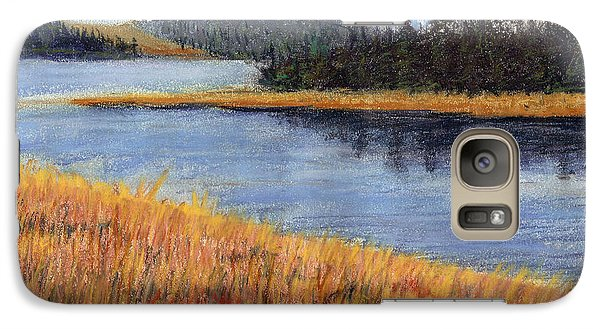 Galaxy Case featuring the painting Nestucca River And Bay  by Chriss Pagani