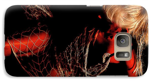 Galaxy Case featuring the photograph Netted A Red by Clayton Bruster