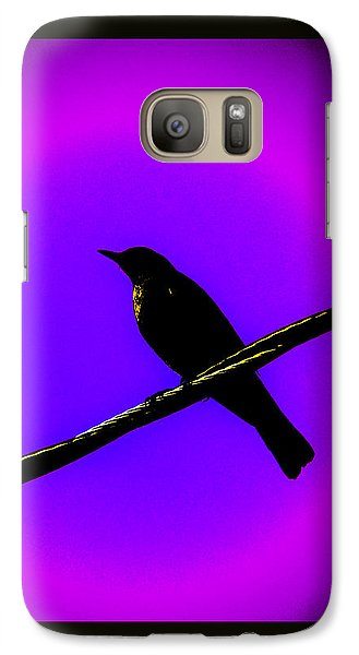 Galaxy Case featuring the photograph New Mu Robin by Susanne Still