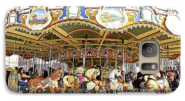 Galaxy Case featuring the photograph New York Carousel by Alice Gipson