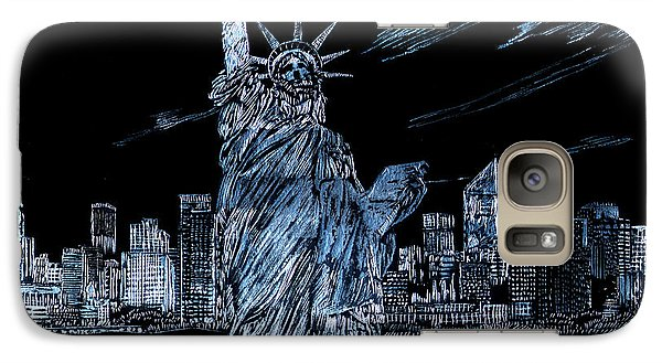 Galaxy Case featuring the drawing New York New York by Saad Hasnain