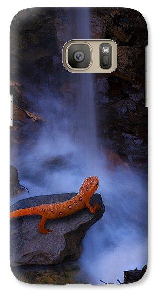 Newt Falls Galaxy Case by Ron Jones
