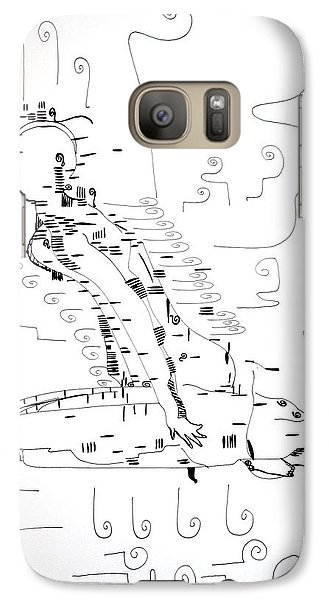 Galaxy Case featuring the drawing Ngwale Dance - Botswana by Gloria Ssali