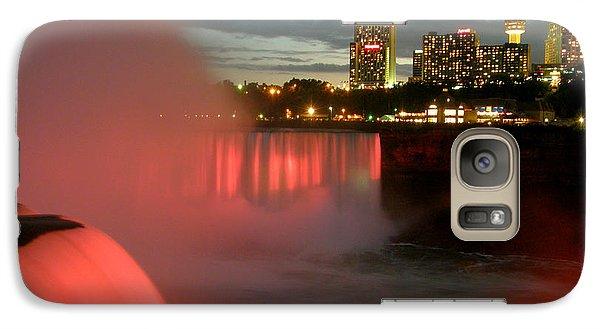 Galaxy Case featuring the photograph Niagara Falls At Night by Mark J Seefeldt