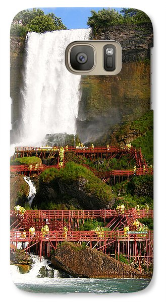 Galaxy Case featuring the photograph Niagara Falls Cave Of The Winds by Mark J Seefeldt