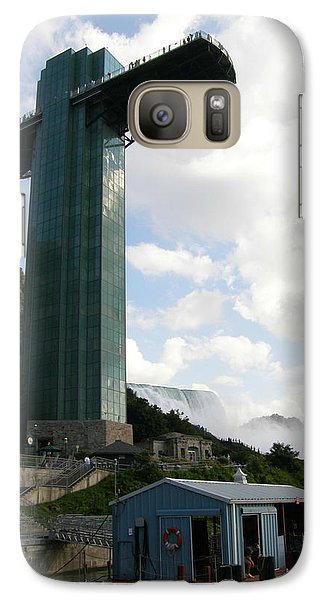 Galaxy Case featuring the photograph Niagara Falls Observation Platform And Maid Of The Mist Tour by Mark J Seefeldt