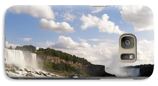 Galaxy Case featuring the photograph Niagara Falls View From The Maid Of The Mist by Mark J Seefeldt