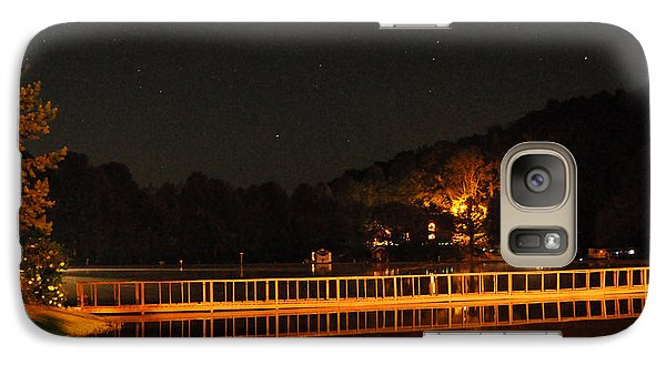 Galaxy Case featuring the photograph Night Bridge by Kay Lovingood