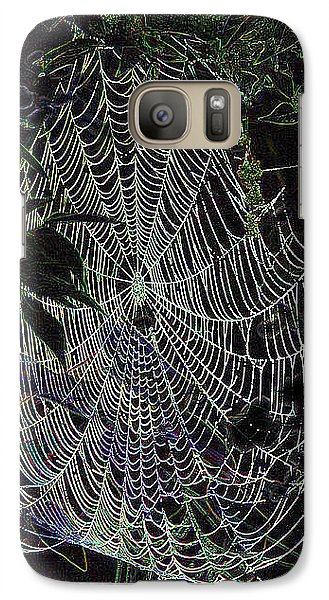 Galaxy Case featuring the photograph Night Lines by EricaMaxine  Price