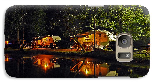 Galaxy Case featuring the photograph Nighttime In The Campground by Kay Lovingood