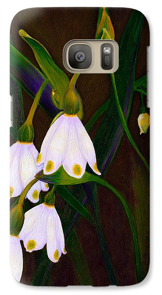 Galaxy Case featuring the painting Nina's Snowflake Bells by Jodi Terracina