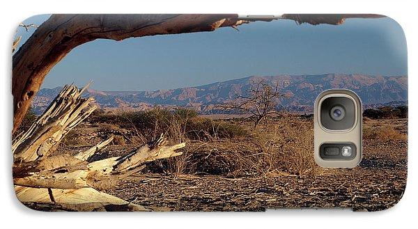 Galaxy Case featuring the photograph No Man Land by Arik Baltinester
