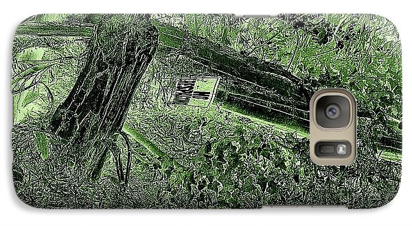 Galaxy Case featuring the photograph No Trespassing  by Garnett  Jaeger