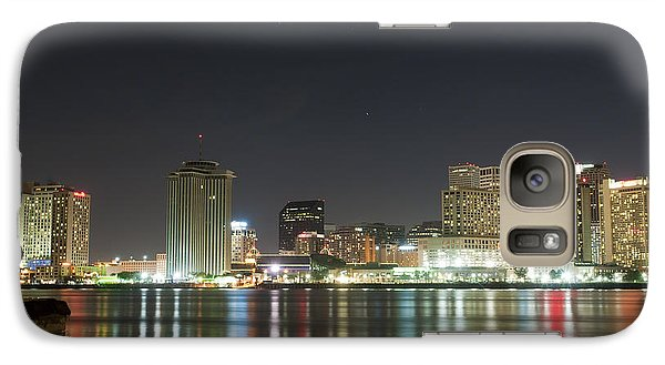 Galaxy Case featuring the pyrography Nola Nights by Ray Devlin