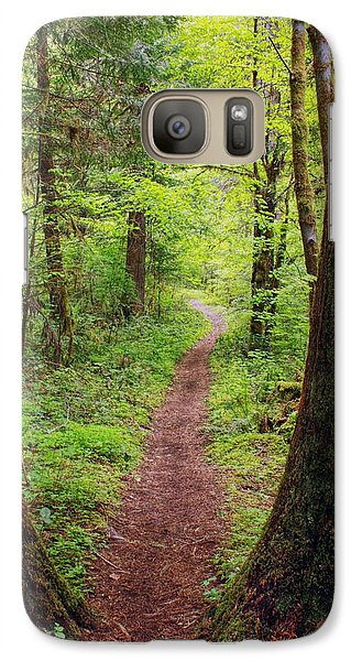 Galaxy Case featuring the photograph North Umpqua Trail by Tyra  OBryant