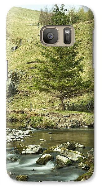 Galaxy Case featuring the photograph Northumberland, England A River Flowing by John Short