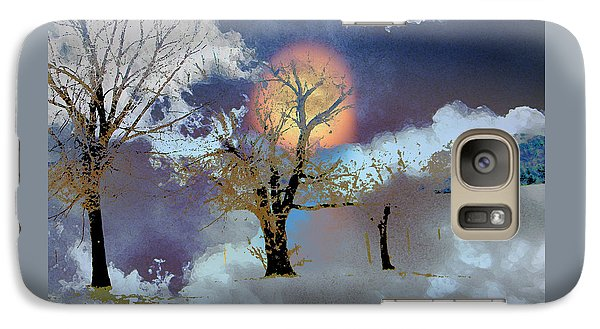 Galaxy Case featuring the photograph November Moon by Lenore Senior