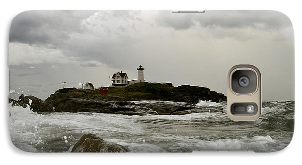 Galaxy Case featuring the photograph Nubble Lighthouse In The Thick by Rick Frost