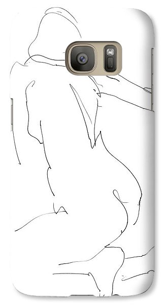 Galaxy Case featuring the drawing Nude Female Drawings 8 by Gordon Punt