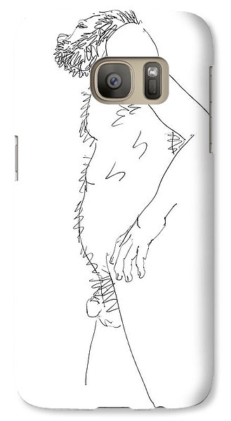 Galaxy Case featuring the drawing Nude Male Drawings 6 by Gordon Punt