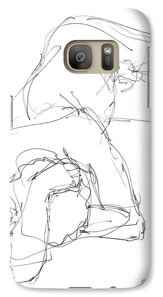 Galaxy Case featuring the drawing Nude Male Drawings 7 by Gordon Punt