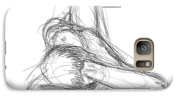 Galaxy Case featuring the drawing Nude Male Sketches 3 by Gordon Punt