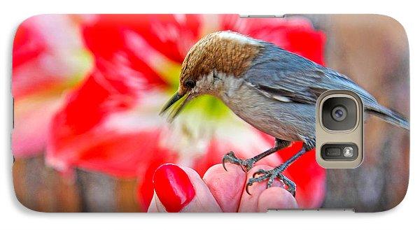 Galaxy Case featuring the photograph Nuthatch Bird Friend by Luana K Perez