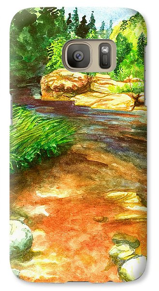 Galaxy Case featuring the painting Oak Creek Red by Eric Samuelson