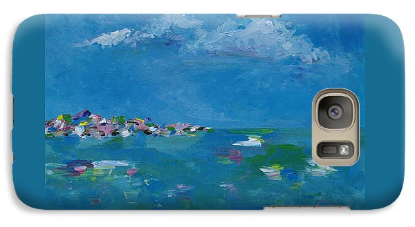 Galaxy Case featuring the painting Ocean Delight by Judith Rhue