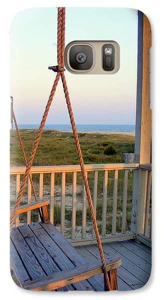 Galaxy Case featuring the photograph Ocean View At Oak Island Nc by Kelly Nowak