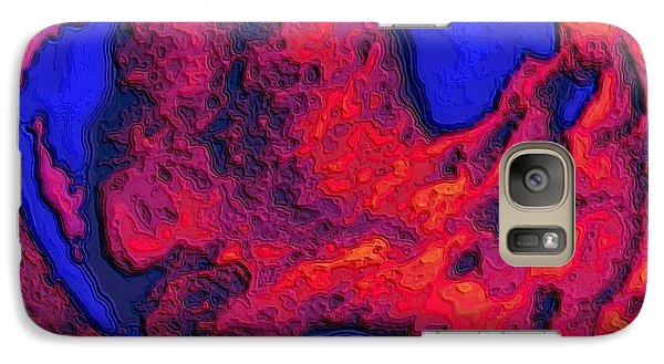 Galaxy Case featuring the digital art Oceans Of Fire by Alec Drake
