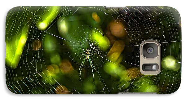 Galaxy Case featuring the photograph Oh The Web We Weave by Barbara Middleton