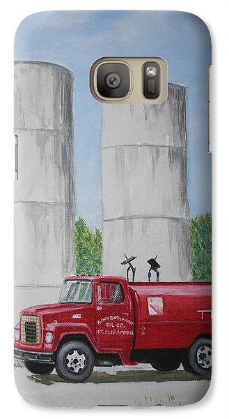 Galaxy Case featuring the painting Oil Truck by Stacy C Bottoms