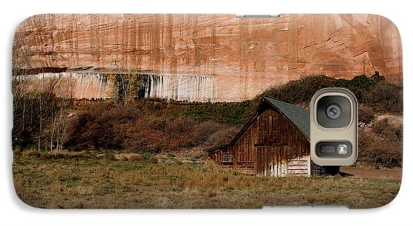 Galaxy Case featuring the photograph Old Barn In Angel Canyon #1  by Nola Lee Kelsey