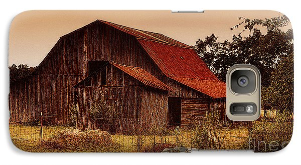 Galaxy Case featuring the photograph Old Barn by Lydia Holly
