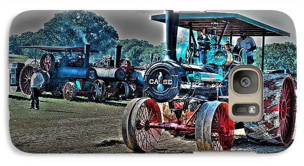 Galaxy Case featuring the photograph Old Case Tractor by Janice Adomeit